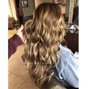 Golden Balayage Natural Hair Painting
