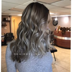Pearly Blonde Balayage